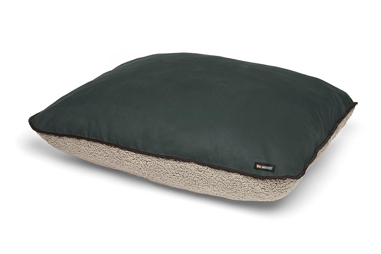 Big Shrimpy 7466 Bogo Faux Suede with Putty Berber Fleece Bed, Medium, Ocean