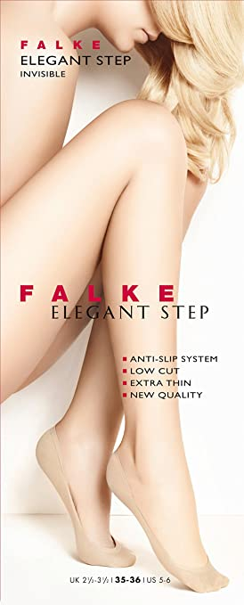 EU 35-42 ideal for ballerina shoes UK sizes 2.5-8 FALKE Womens Seamless Step Liner Socks Soft And Elasticated 1 Pair In Black very low cut non-slip Powder or Crystal No show//invisible