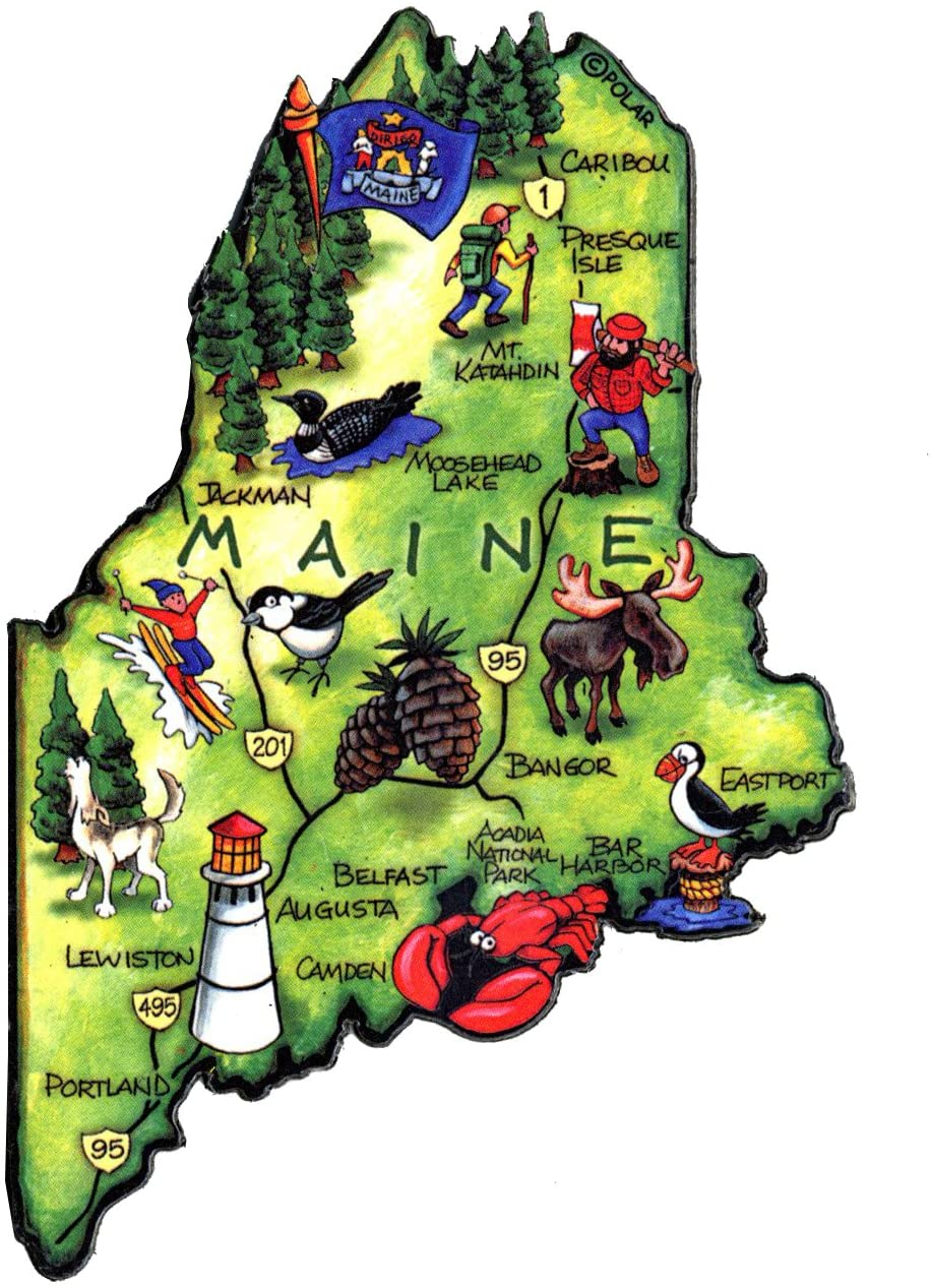 ARTWOOD MAGNET - MAINE STATE MAP