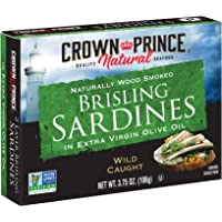 Crown Prince Natural Two Layer Brisling Sardines in Extra Virgin Olive Oil, 3.75-Ounce Cans (Pack of 12)