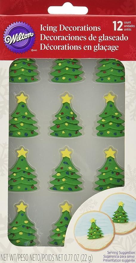 wilton 710 3468 12 count christmas tree royal icing decorations - Amazon Christmas Tree Decorations