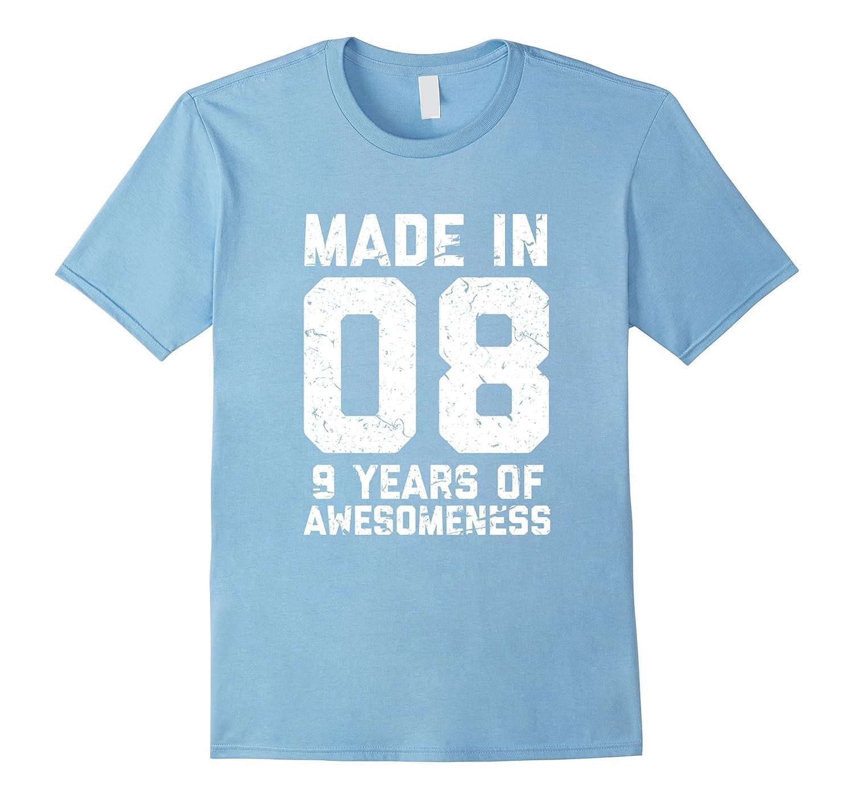 9th Birthday Shirt Gift Age 9 Year Old Boy Girl Tshirt Tee Gm