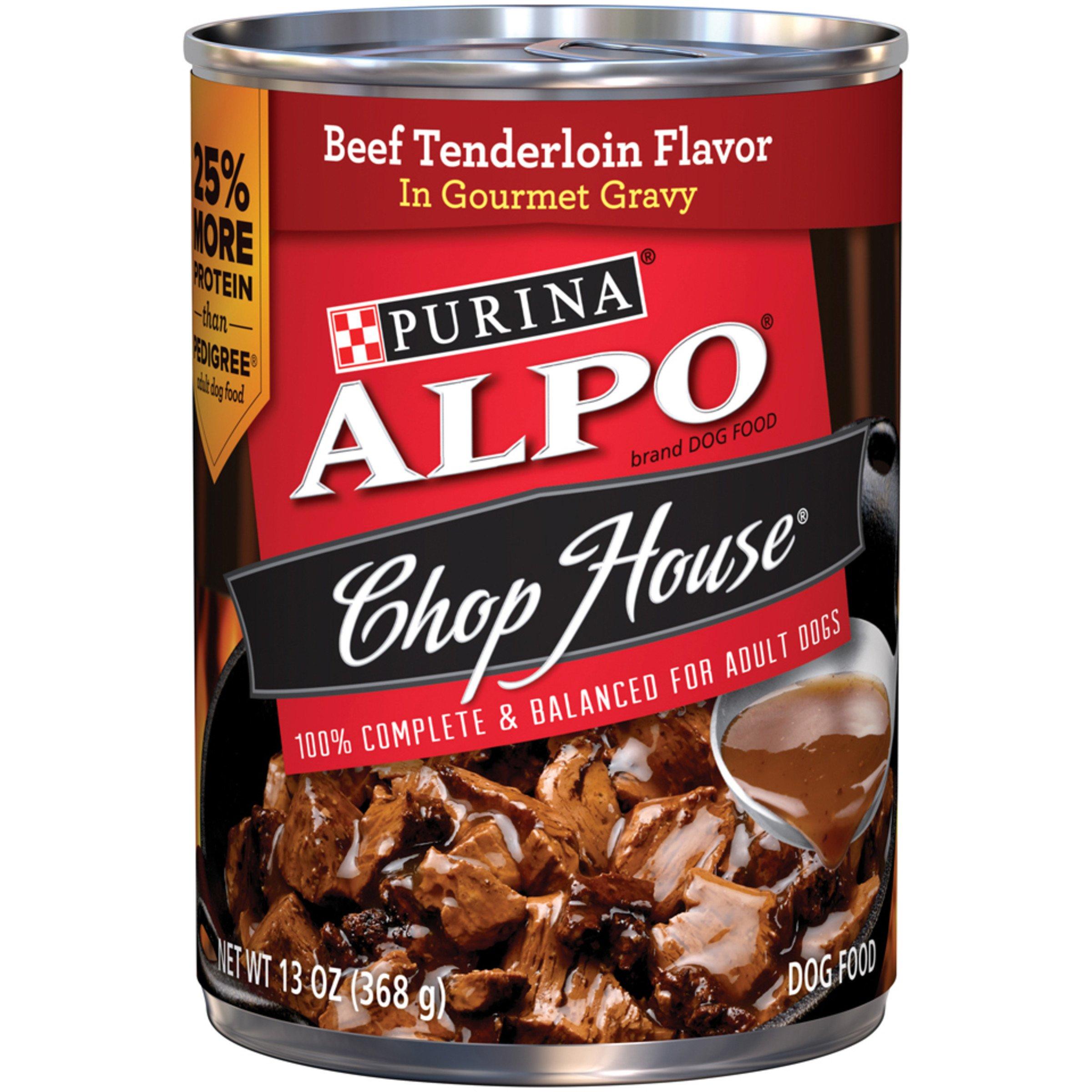 Purina ALPO Chop House Beef Tenderloin Flavor in Gourmet Gravy Wet Dog Food - Twelve (12) 13 oz. Cans