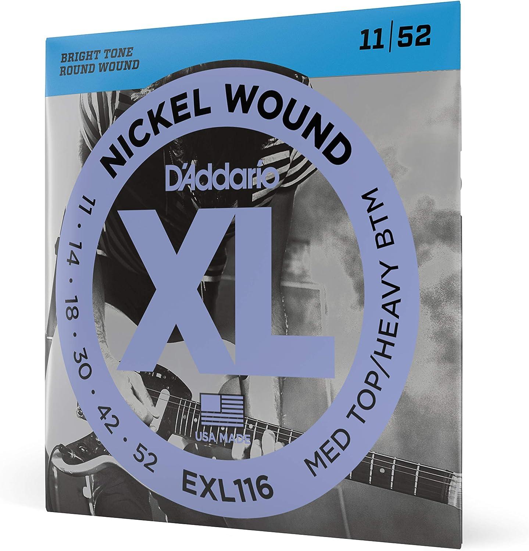 D'Addario EXL116 - Juego de cuerdas para guitarra eléctrica de níquel, 011' - 052'