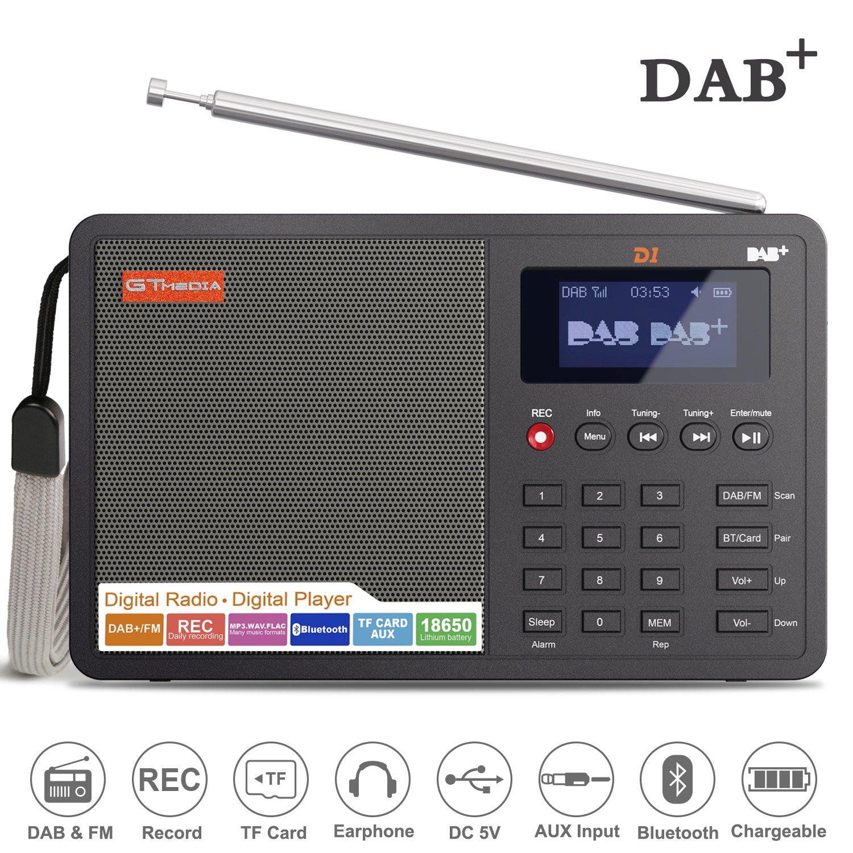 Ohok Portátil Radio Digital Dab/Dab + con Transmisor FM, Pantalla de LCD de 1.8 Pulgadas, Altavoz, Bluetooth y Reloj Despertador: Amazon.es: Electrónica