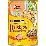Ração Úmida Friskies Sachê para Gatos Adultos Sabor Peru ao Molho - 85g Purina para Todas Todos os tamanhos de raça Adulto -