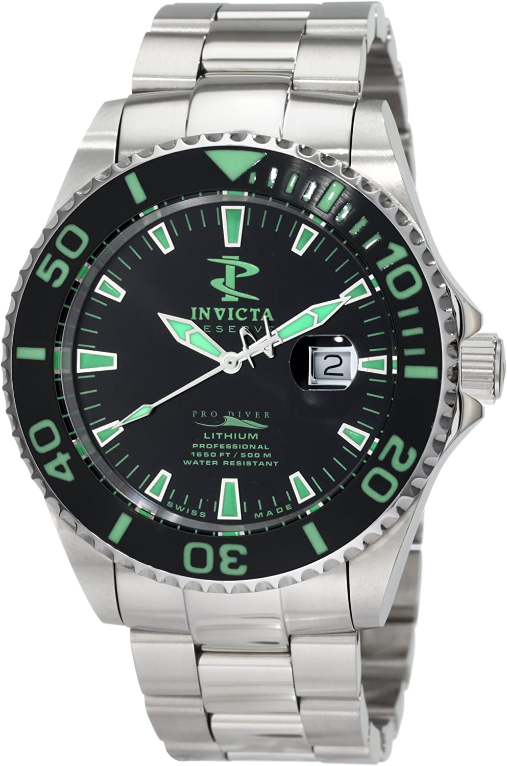 Invicta Men s 1543 Reserve Black Dial Stainless Steel Watch