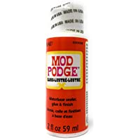 Mod Podge Gloss Water Base Sealer/Glue And Finish, White, 2 oz