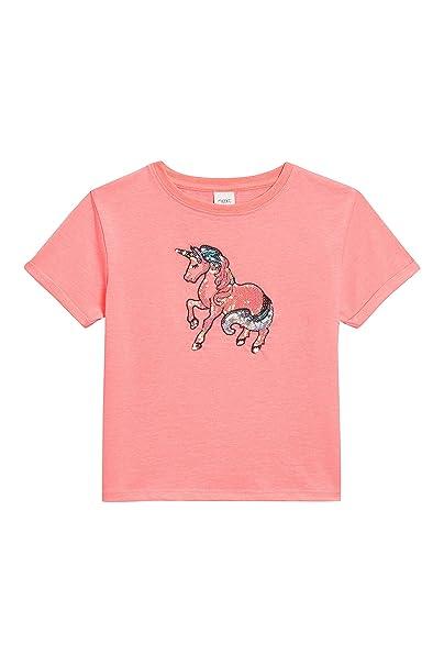 next Niñas Camiseta De Mangas Cortas con Unicornio De Lentejuelas (3-16 Años) Rosa 6 años: Amazon.es: Ropa y accesorios