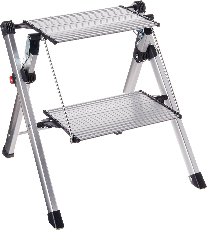 Hailo 4310-100 Escalera plegable Aluminio escalera - Escalera de mano (22 cm, 150 kg, 3,6 kg, 460 mm, 65 mm, 600 mm): Amazon.es: Bricolaje y herramientas
