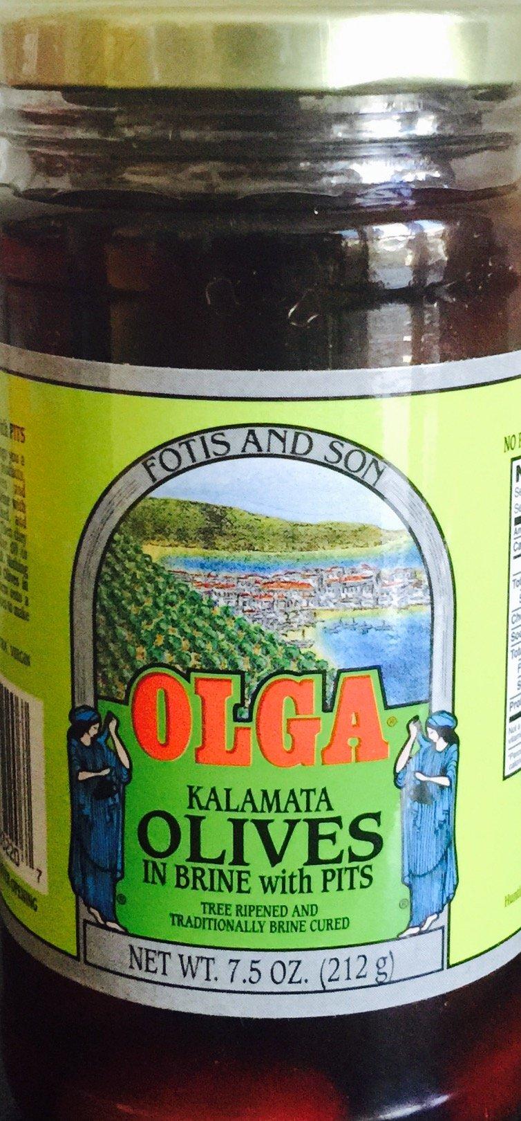 Olga Kalamata olives in Jar 6x7.5 oz