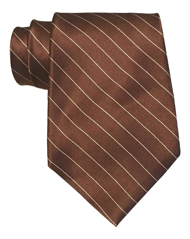 Polo Ralph Lauren - Corbata de raso, diseño de rayas, color marrón ...