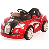 Toy House Veyron Sport Boomer Rechargeable Battery Operated Ride-on Car Painted with Remote for Kids(2 to 4yrs), Red
