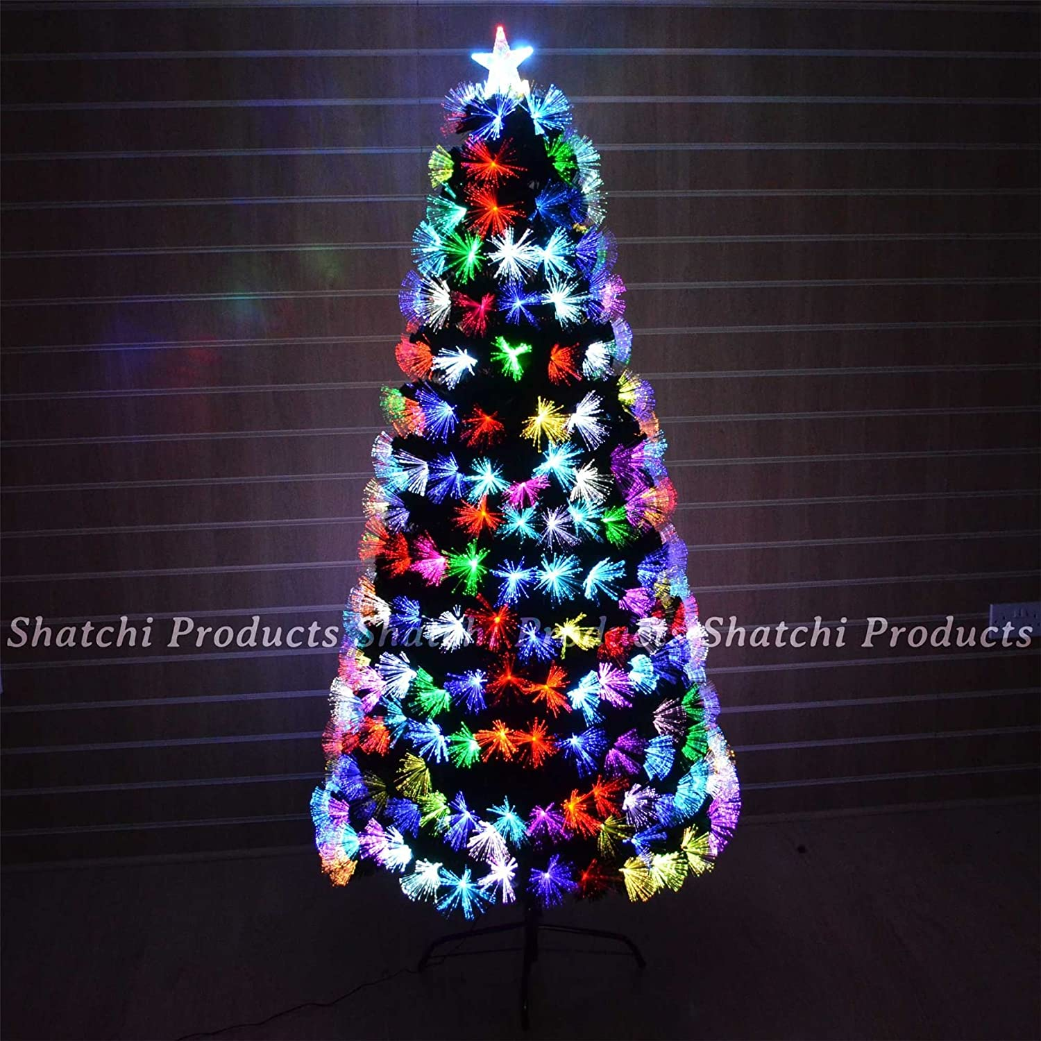 3ft 90cm Fibre Optic Christmas Tree Multi Colour Changing with Various Effects Xmas Decoration Shatchi