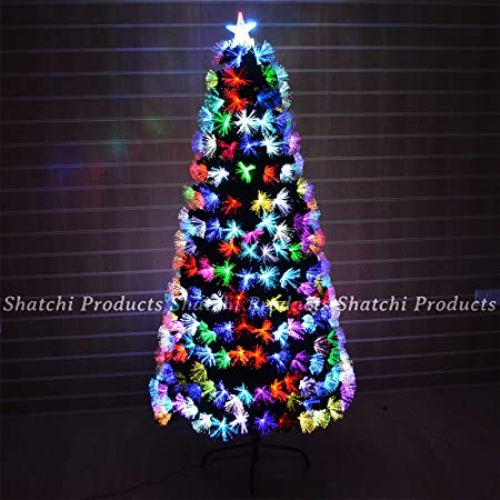 3ft 90cm Fibre Optic Christmas Tree Multi Colour Changing with Various  Effects Xmas Decoration - 3ft 90cm Fibre Optic Christmas Tree Multi Colour Changing With