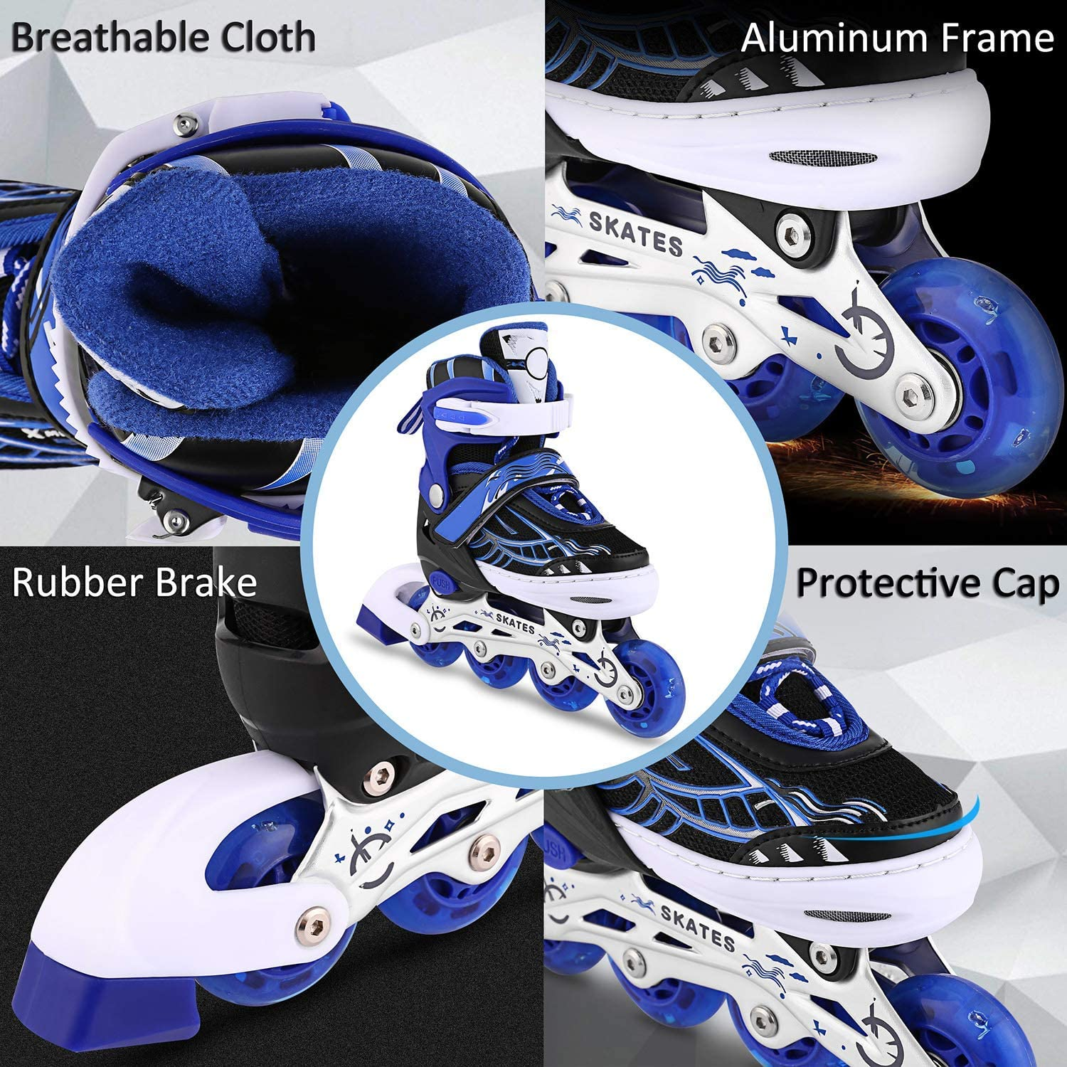 OUTCAMER Inline Skates with Light Up Wheels - 4