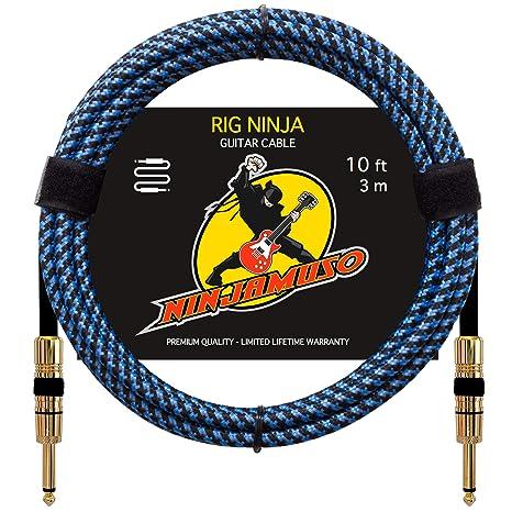 Rig Ninja Premium – Cable de guitarra instrumentos musicales cable, cable de guitarra – Estudio