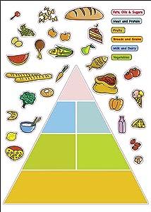 Kids Learning Food Pyramid Artwork Room Decor Wall Sticker Decal15 W X 23