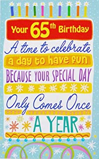 Happy 65th Birthday To Amazing You Greeting Card