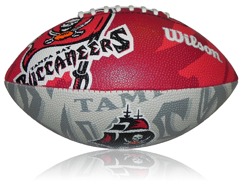 Wilson Football NFL Junior Tampa Bay Buccaneers Logo - Balón de fútbol americano (infantil, caucho), color multicolor, talla 5 WL0206594040