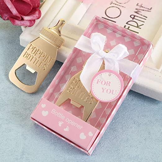 PINK Set of 8 Baby Shower Favor Ties with ribbon bows /& FREE Name Tags