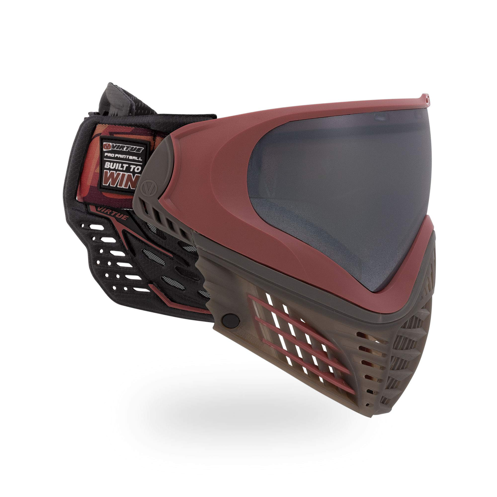 Virtue VIO Contour II Thermal Paintball Goggles/Masks - Dark Slate Red by Virtue Paintball