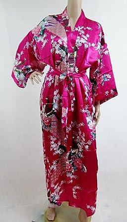 200506 Ladies Long Satin Chinese Japanese Kimono Dressing Gown Hot