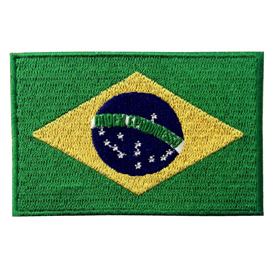 Brasile Bandiera Nazionale Ricamato Brasiliano Brasile Stato Emblem Ferro Sul Cucia Sulla Zona ZEGIN