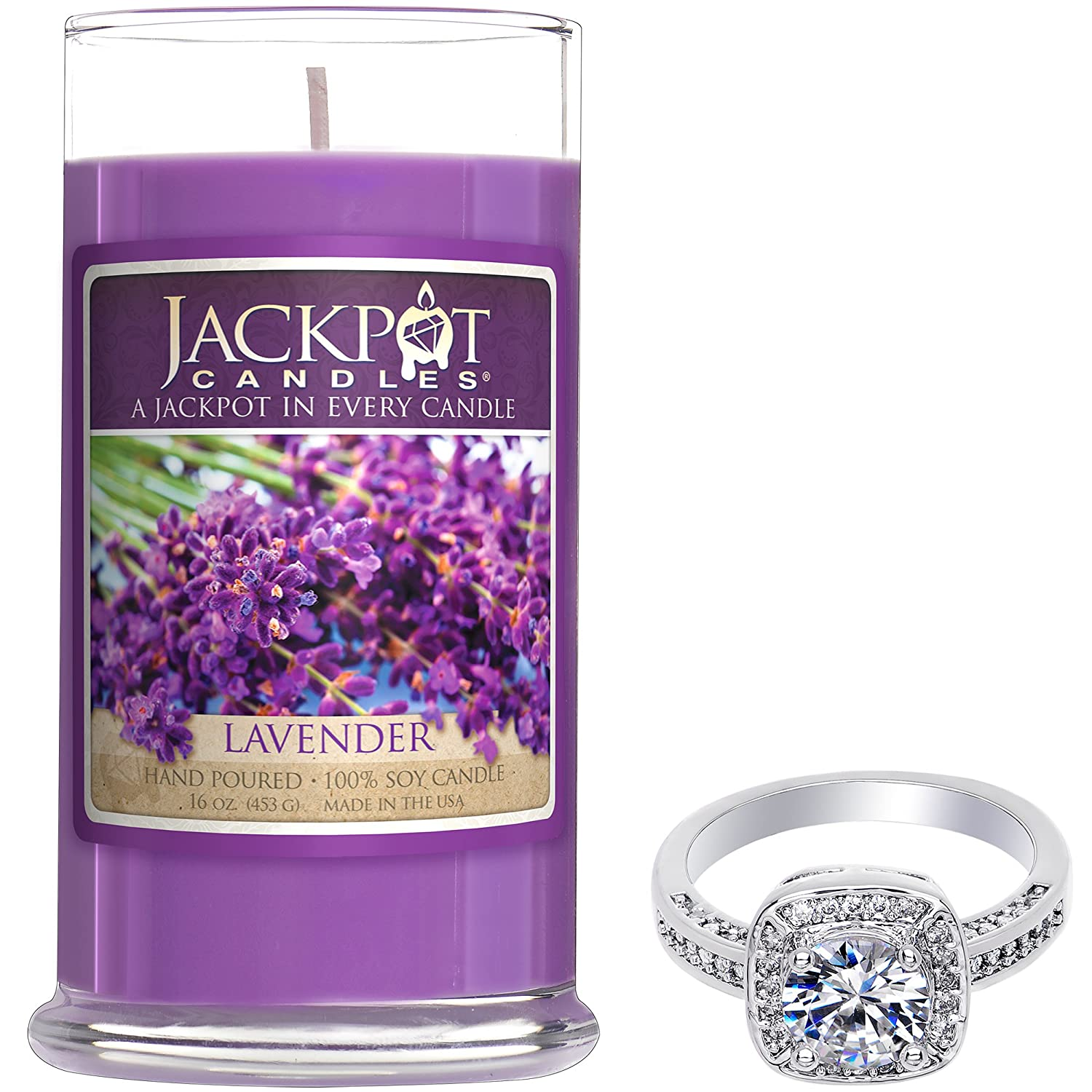 Amazon jackpot candles christmas candle with ring inside amazon jackpot candles christmas candle with ring inside surprise jewelry valued at 15 to 5000 ring size 6 home kitchen izmirmasajfo