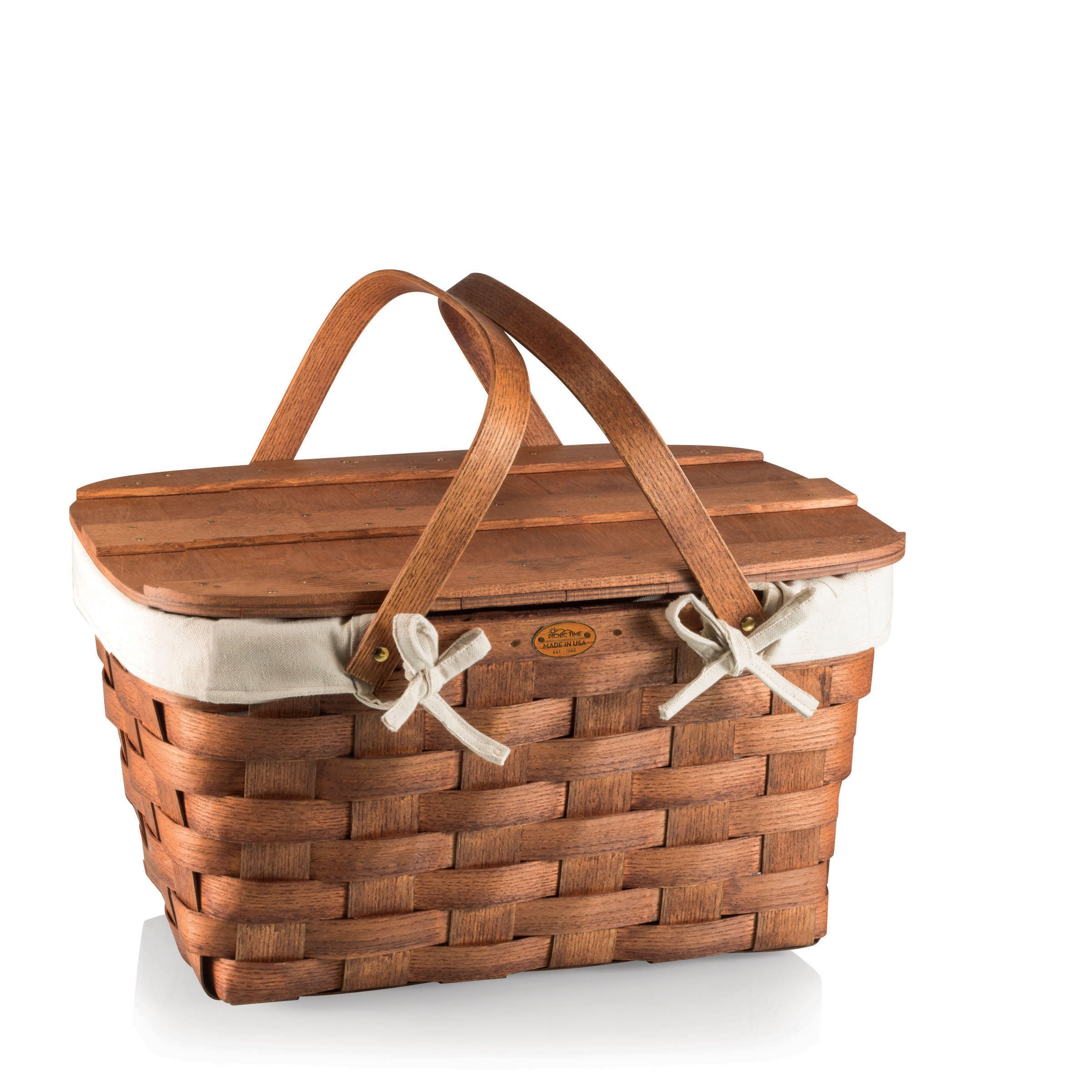 Picnic Time Prairie Picnic Basket with Canvas Lining by PICNIC TIME