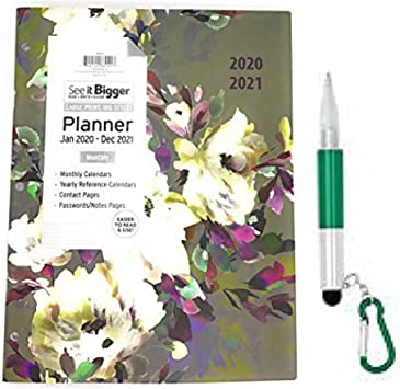 PlanAhead Big Print Monthly Pocket Planner January 2019 December 2020  2 Year