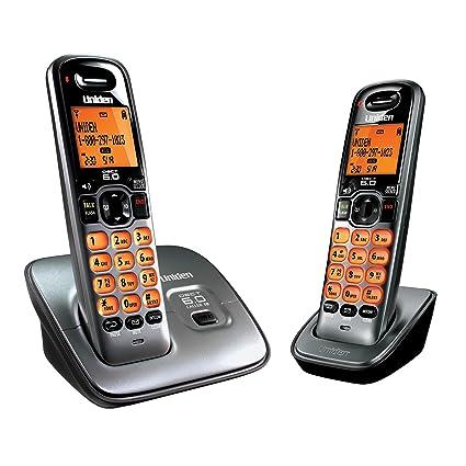 amazon com uniden d1660 2t dect 6 0 2 handset landline telephone rh amazon com Uniden- DECT 6.0 Corded Phone Uniden- DECT 6.0 Corded Phone