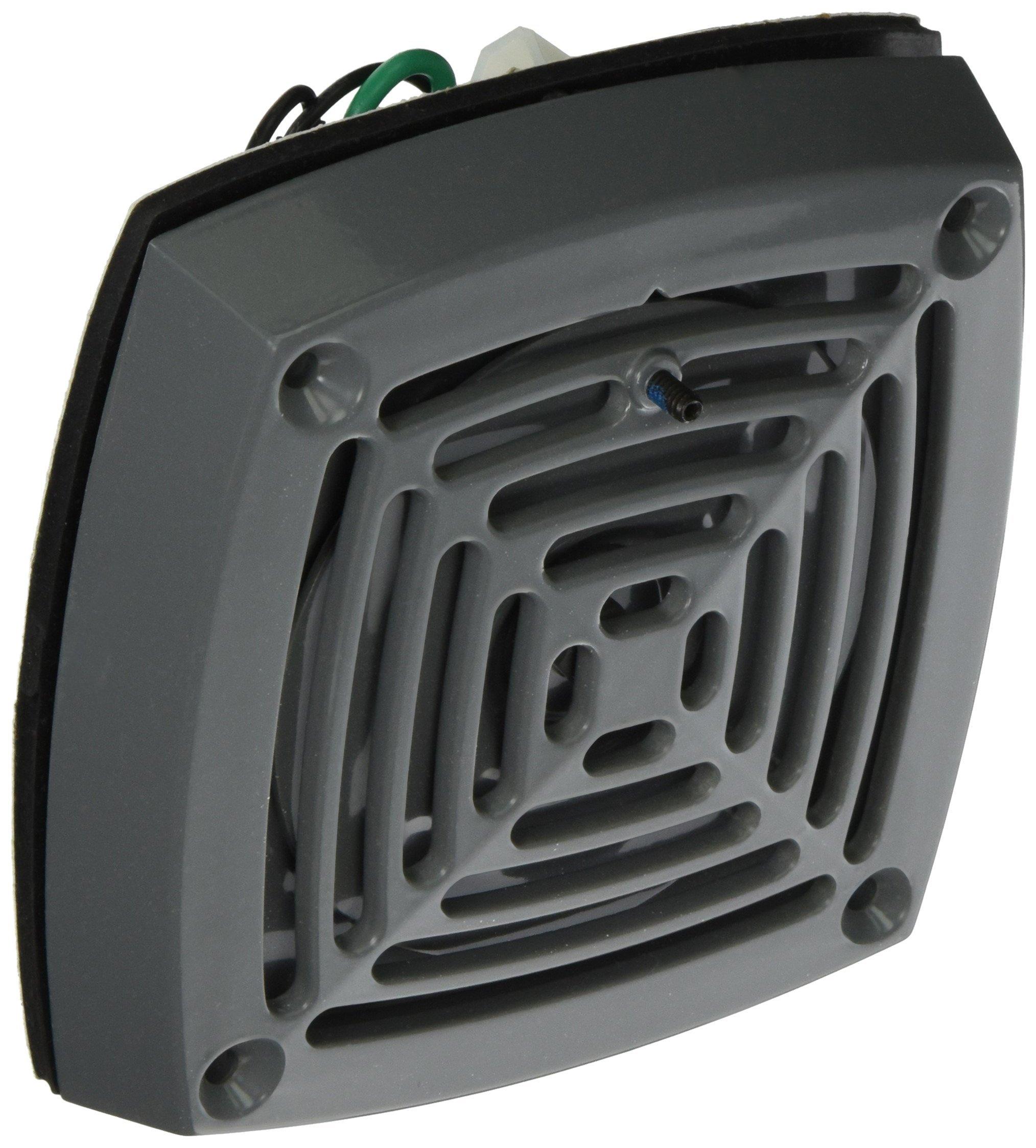Edwards Signaling 870P-N5 Vibrating Horn, Heavy Duty, 113/103 db, Panel Mount, Volume Adjustable, 120V AC, Gray