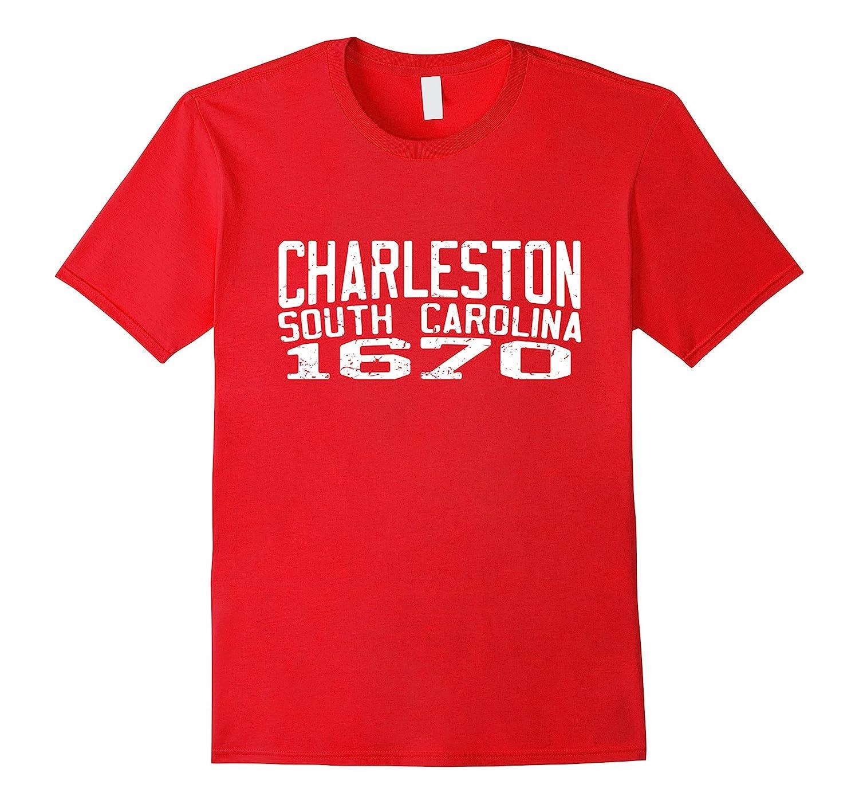 Charleston South Carolina 1670 White Text Vintage Shirt 2-TH