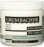 Grumbacher Hyplar Modeling Paste Artists' Acrylic & Oil Paint Medium, 16 oz. Jar