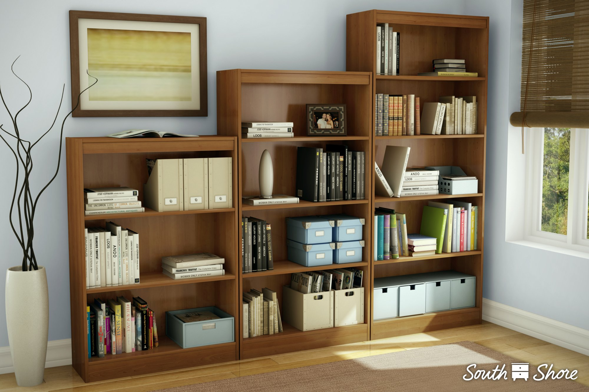 South Shore 4-Shelf Storage Bookcase, Natural Maple by South Shore (Image #1)