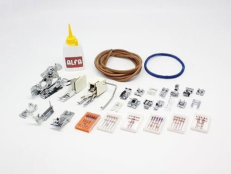 Alfa Prensatelas para ribetear, accesorio para máquina de coser, acero, inoxidable: Amazon.es: Hogar