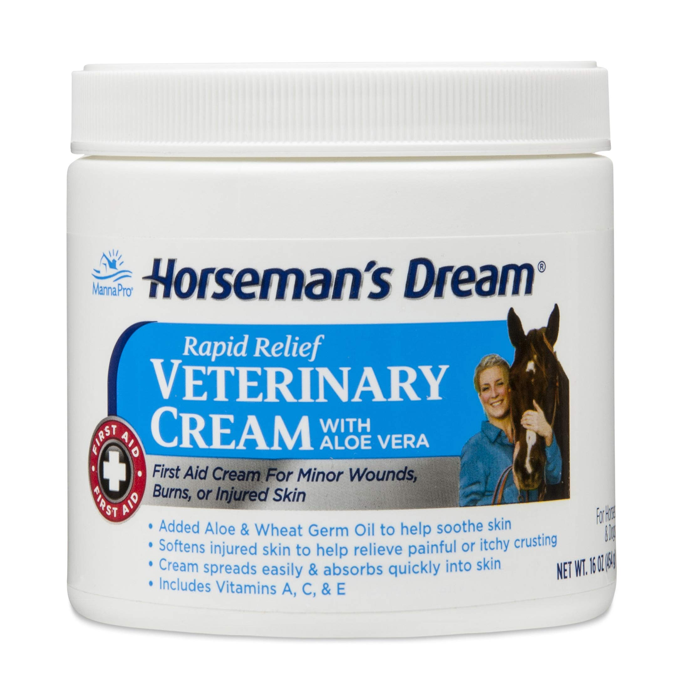 Manna Pro Horseman's Dream Veterinary Cream, Jar, 16-Ounces by Manna Pro