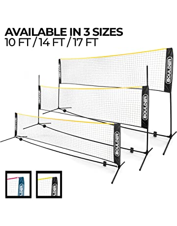 Boulder Portable Badminton Net Set - Net for Tennis, Soccer Tennis, Pickleball, Kids