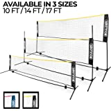 Boulder Portable Badminton Net Set - Net for Tennis, Soccer Tennis, Pickleball, Kids Volleyball - Easy Setup Nylon Sports Net with Poles - for Indoor or Outdoor Court, Beach, Driveway