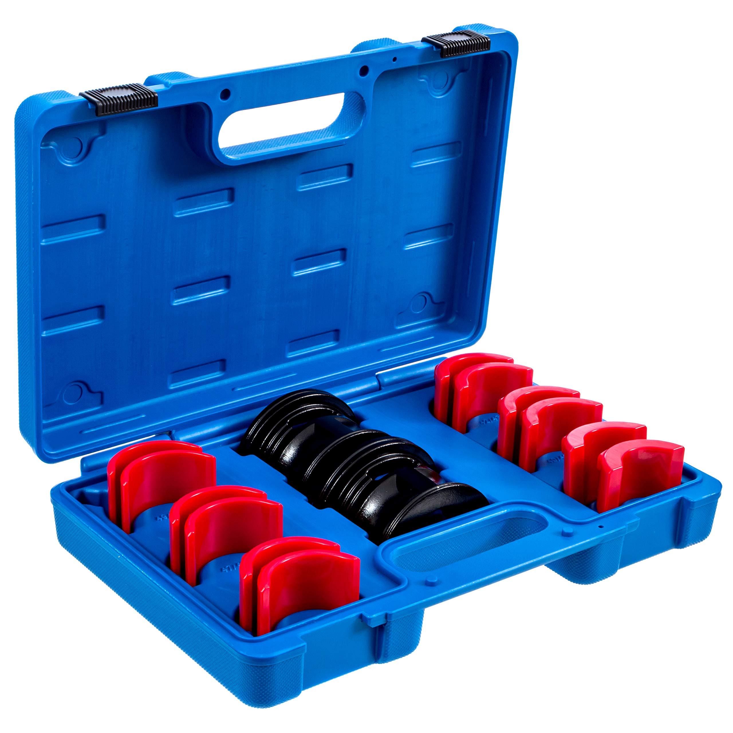 ALPHA MOTO Universal Fork Seal Driver Tool Kit 35mm 36mm 40mm 41mm 42mm 43mm 45mm 46mm 47mm 48mm 49mm 50mm by ALPHA MOTO
