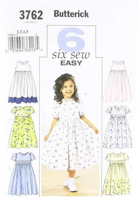 Butterick 3762/2 - Patrón de costura para confeccionar vestidos de ...