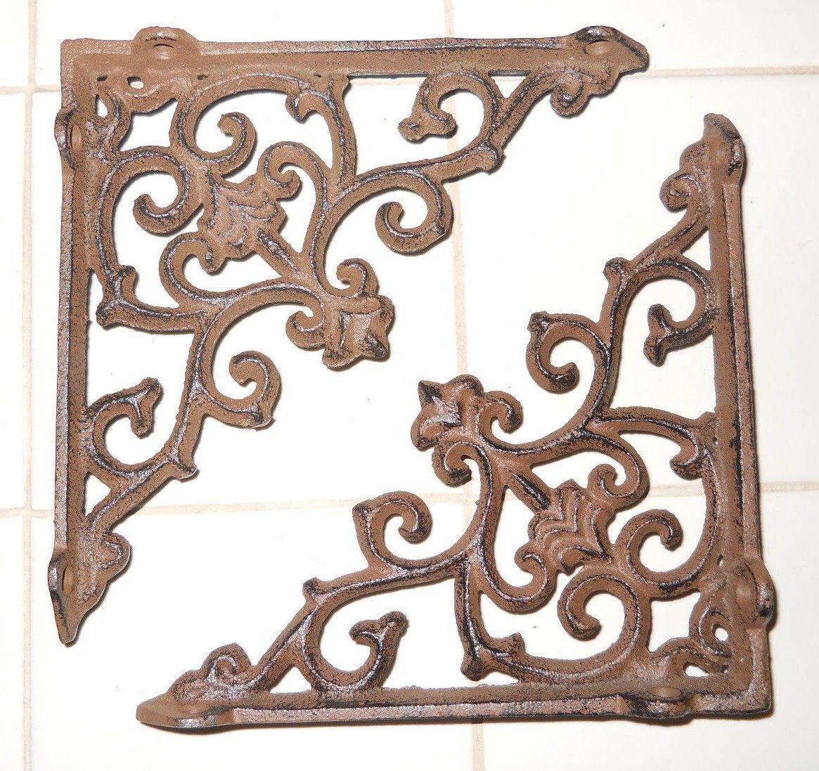 New 16 Cast Iron by YourLuckyDecor Antique Style ARROW Brackets, Garden Braces Shelf Bracket