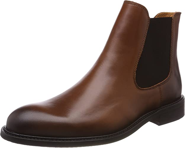TALLA 42 EU. SELECTED Shdbaxter Chelsea Leather Boot Noos, Botas para Hombre