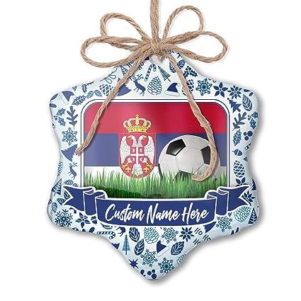 Amazon com: NEONBLOND Custom Tree Ornament Soccer Team Flag Serbian