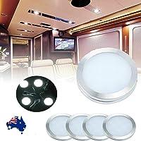 WOWLED 12V LED Downlight, LED Recessed Cabinet Lights, LED RV Ceiling Light 4 Pack, Boat Ceiling Light, 12V 3W White LED…