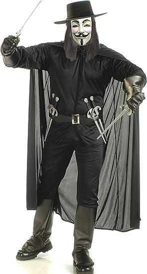 V de Vendetta disfraz para adultos traje de carnaval Extra Grande ...