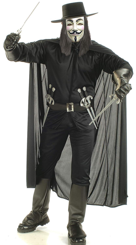 Rubbies - Disfraz de V de Vendetta para hombre, talla XL (139178)