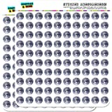 "Planet Earth from Space 1/2"" (0.5"") Planner Calendar Scrapbooking Crafting Stickers - Opaque"
