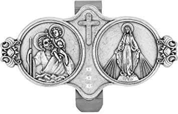 Venerare VI2249-54 Holy Family Traditional Catholic Visor Clip for Protection While Driving